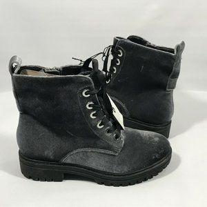 Mossimo Supply Co. Rihanna Gray Velvet Boots